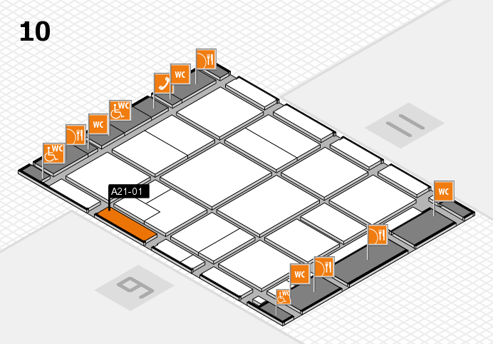 CARAVAN SALON 2016 hall map (Hall 10): stand A21-01