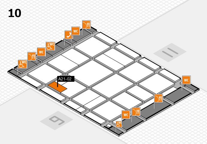 CARAVAN SALON 2016 hall map (Hall 10): stand A21-02