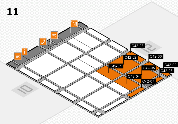 CARAVAN SALON 2016 hall map (Hall 11): stand C42-01, stand C42-09