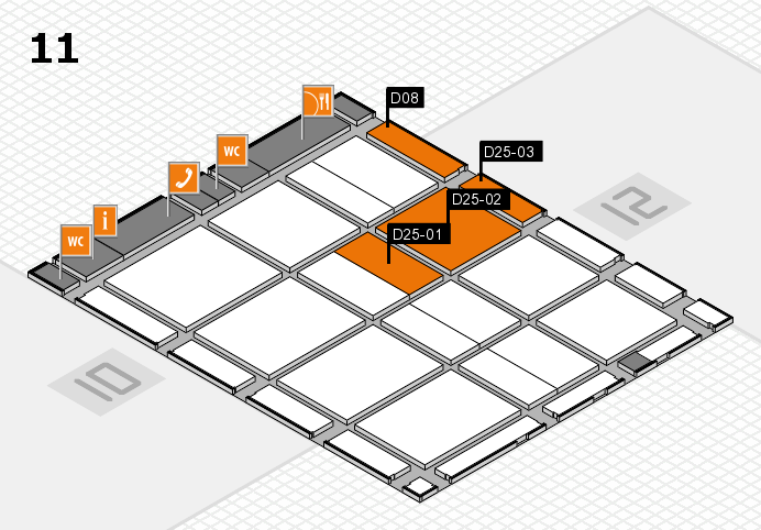 CARAVAN SALON 2016 hall map (Hall 11): stand D08, stand D25-03