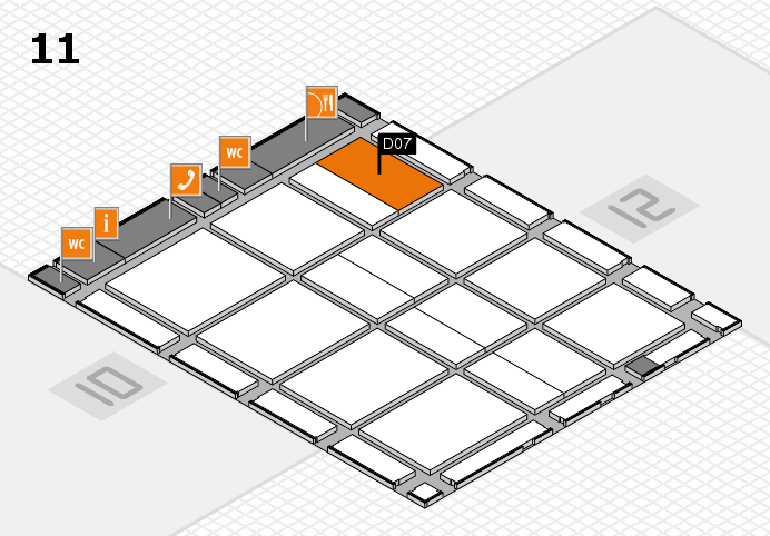 CARAVAN SALON 2016 hall map (Hall 11): stand D07