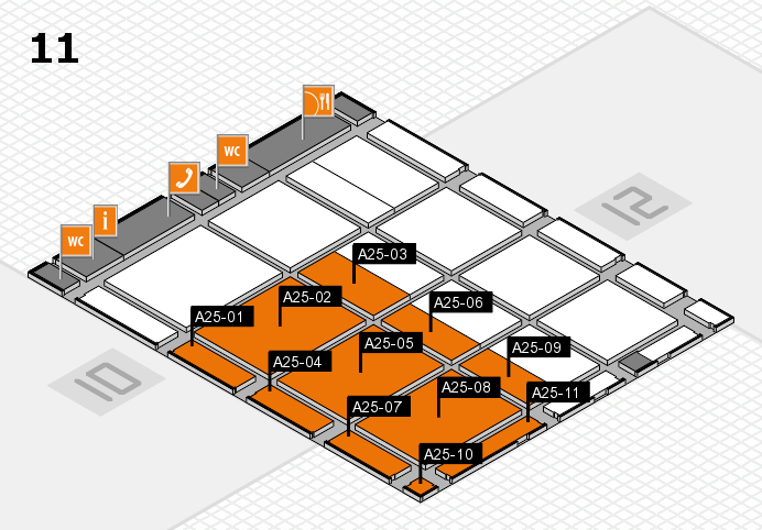 CARAVAN SALON 2016 Hallenplan (Halle 11): Stand A25-01, Stand A25-11