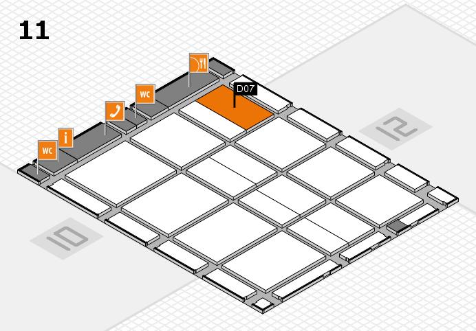 CARAVAN SALON 2016 hall map (Hall 11): stand D07