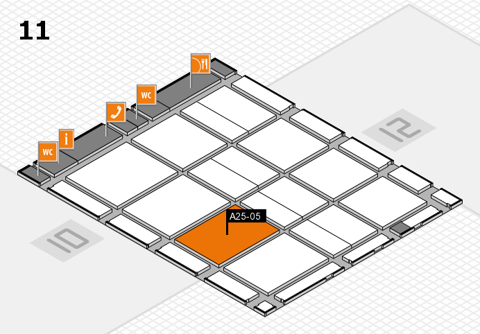CARAVAN SALON 2016 hall map (Hall 11): stand A25-05