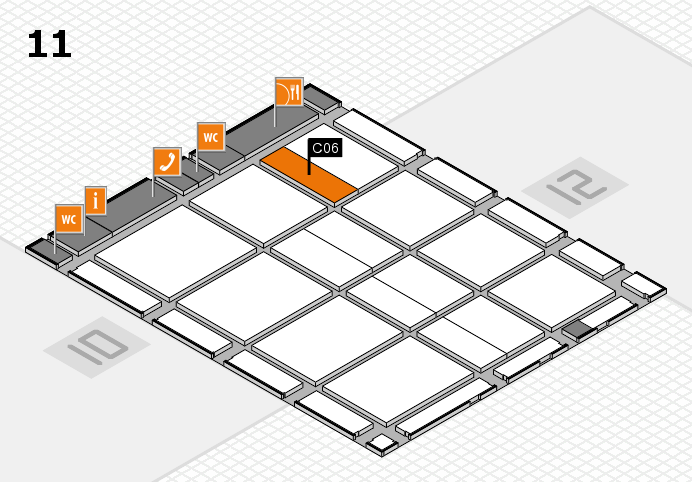 CARAVAN SALON 2016 hall map (Hall 11): stand C06