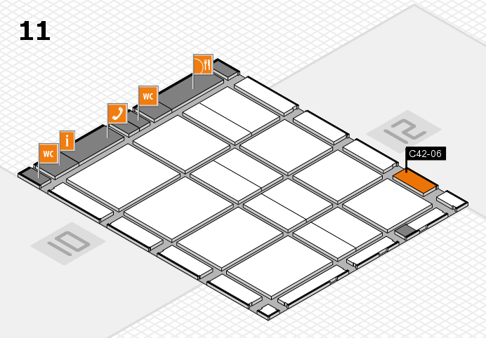 CARAVAN SALON 2016 hall map (Hall 11): stand C42-06