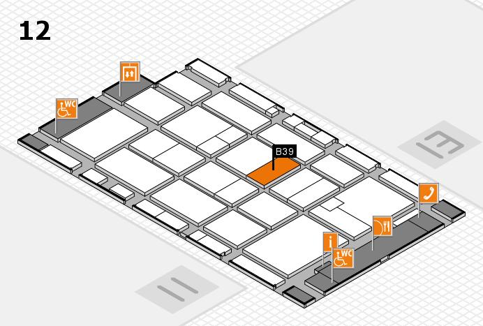 CARAVAN SALON 2016 hall map (Hall 12): stand B39