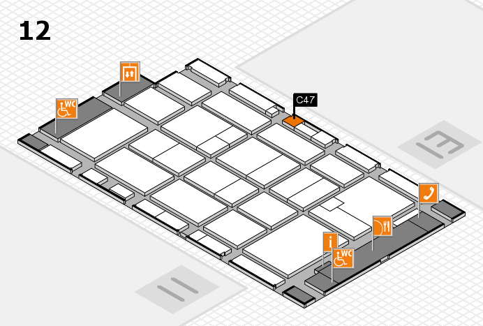 CARAVAN SALON 2016 hall map (Hall 12): stand C47