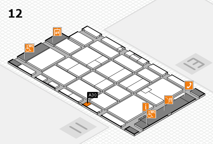 CARAVAN SALON 2016 hall map (Hall 12): stand A30