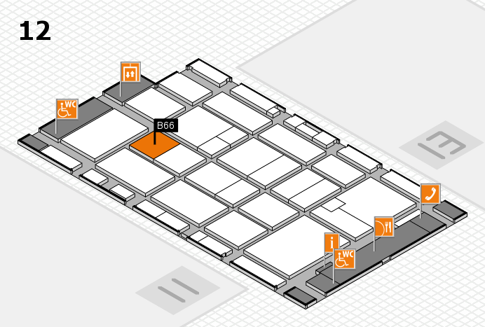 CARAVAN SALON 2016 hall map (Hall 12): stand B66