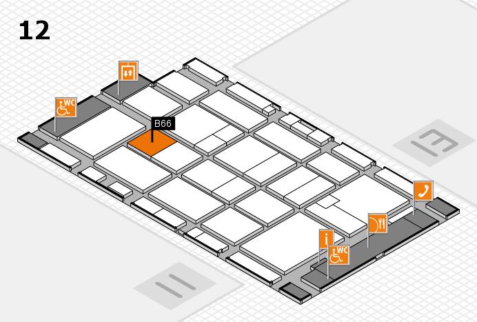 CARAVAN SALON 2016 Hallenplan (Halle 12): Stand B66