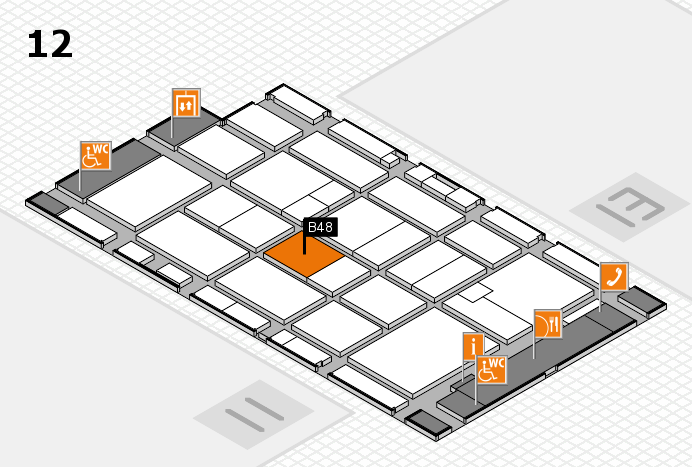 CARAVAN SALON 2016 hall map (Hall 12): stand B48