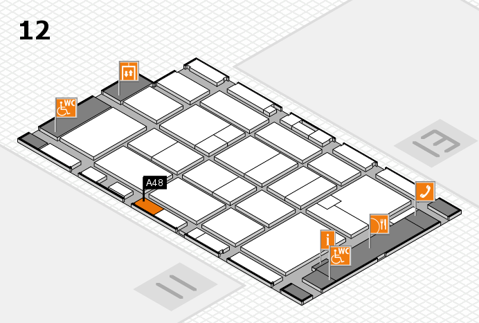 CARAVAN SALON 2016 hall map (Hall 12): stand A48