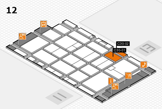 CARAVAN SALON 2016 hall map (Hall 12): stand C30-01, stand C30-02