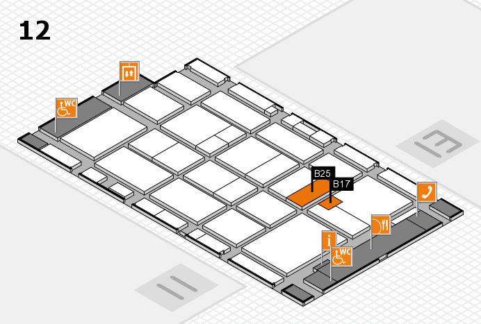 CARAVAN SALON 2016 hall map (Hall 12): stand B17, stand B25