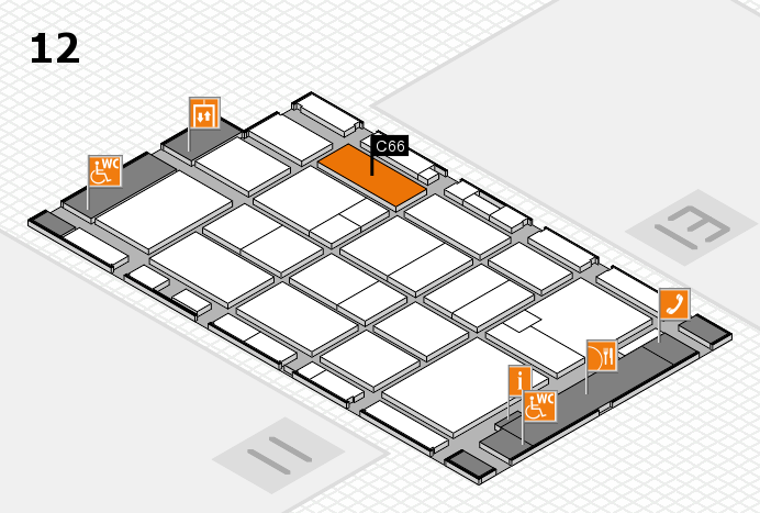 CARAVAN SALON 2016 hall map (Hall 12): stand C66