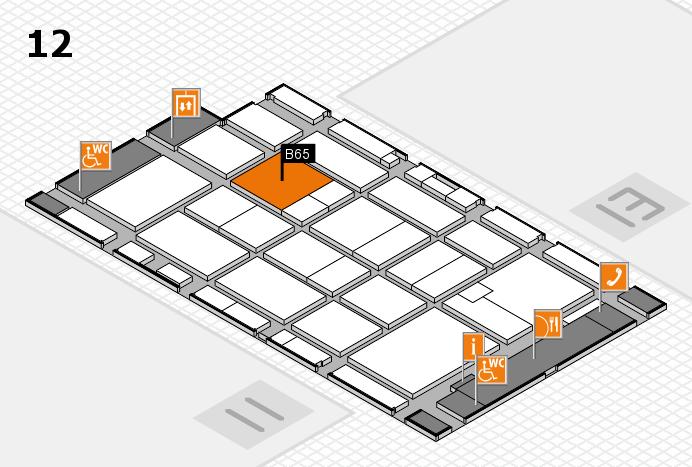 CARAVAN SALON 2016 hall map (Hall 12): stand B65