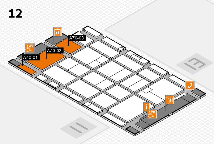 CARAVAN SALON 2016 hall map (Hall 12): stand A70-01, stand A70-03