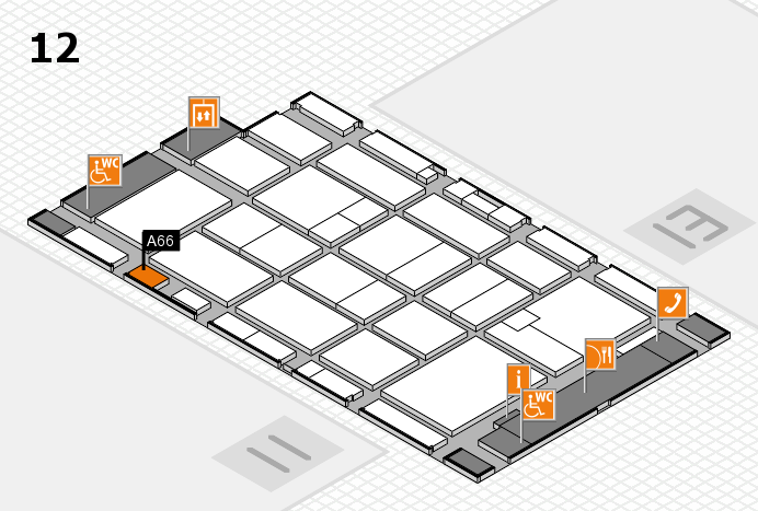 CARAVAN SALON 2016 hall map (Hall 12): stand A66