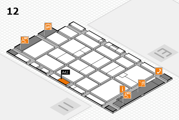 CARAVAN SALON 2016 hall map (Hall 12): stand A42