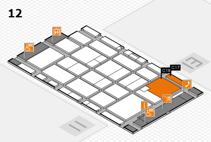CARAVAN SALON 2016 hall map (Hall 12): stand C17, stand C18