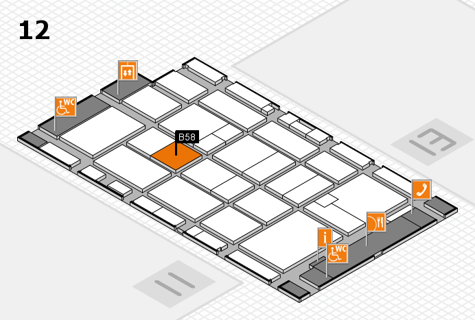CARAVAN SALON 2016 hall map (Hall 12): stand B58