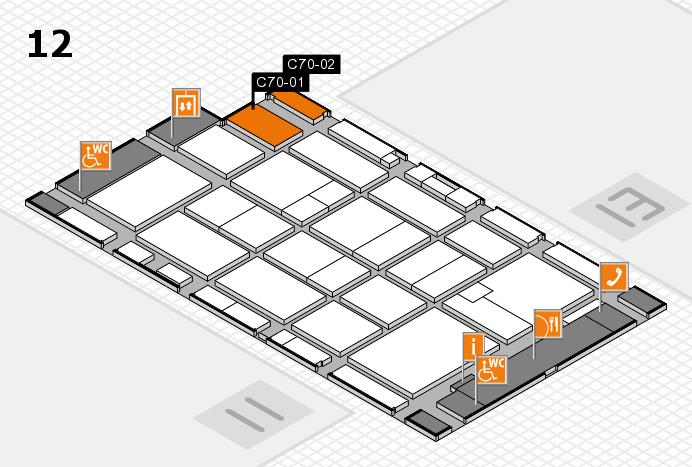 CARAVAN SALON 2016 Hallenplan (Halle 12): Stand C70-01, Stand C70-02