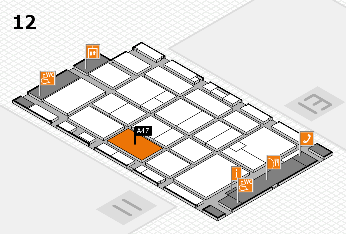 CARAVAN SALON 2016 hall map (Hall 12): stand A47