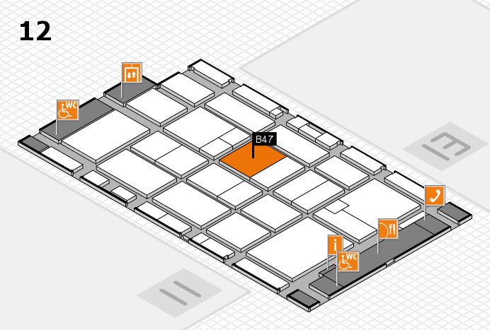 CARAVAN SALON 2016 hall map (Hall 12): stand B47