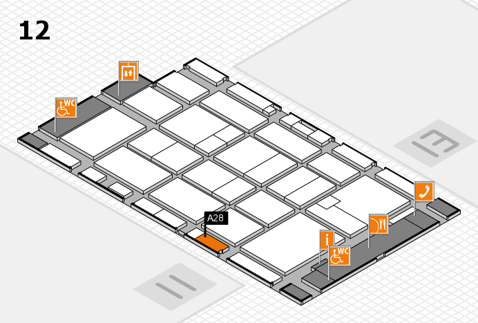 CARAVAN SALON 2016 hall map (Hall 12): stand A28