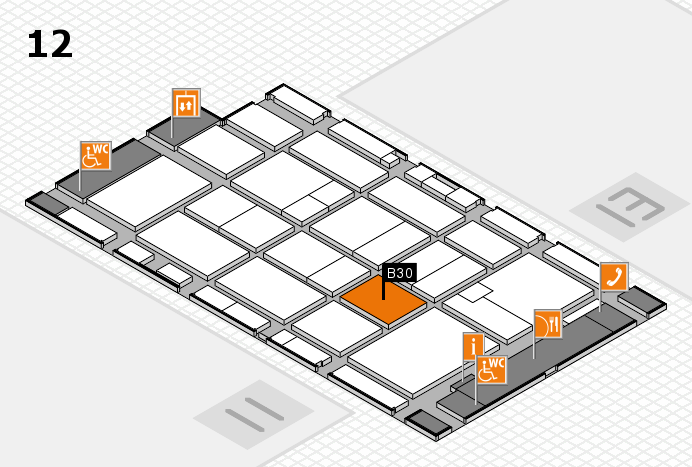 CARAVAN SALON 2016 hall map (Hall 12): stand B30