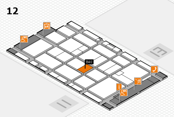 CARAVAN SALON 2016 hall map (Hall 12): stand B40