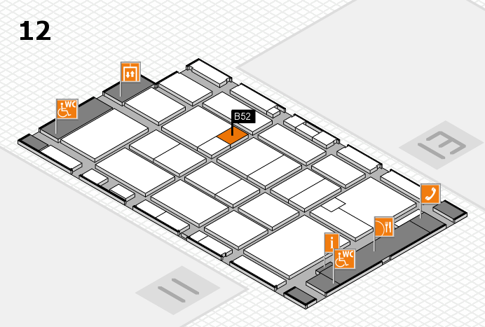 CARAVAN SALON 2016 Hallenplan (Halle 12): Stand B52