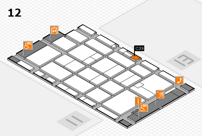 CARAVAN SALON 2016 hall map (Hall 12): stand C39