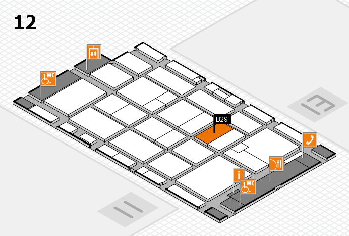 CARAVAN SALON 2016 hall map (Hall 12): stand B29