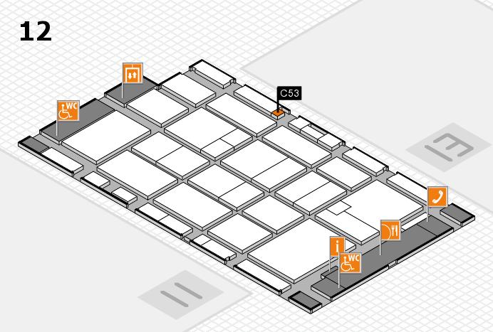 CARAVAN SALON 2016 hall map (Hall 12): stand C53