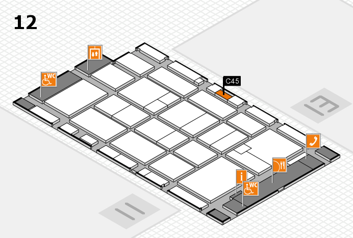 CARAVAN SALON 2016 hall map (Hall 12): stand C45