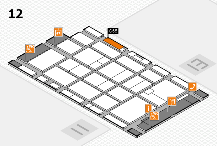 CARAVAN SALON 2016 hall map (Hall 12): stand C65