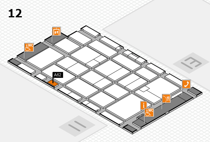 CARAVAN SALON 2016 hall map (Hall 12): stand A62