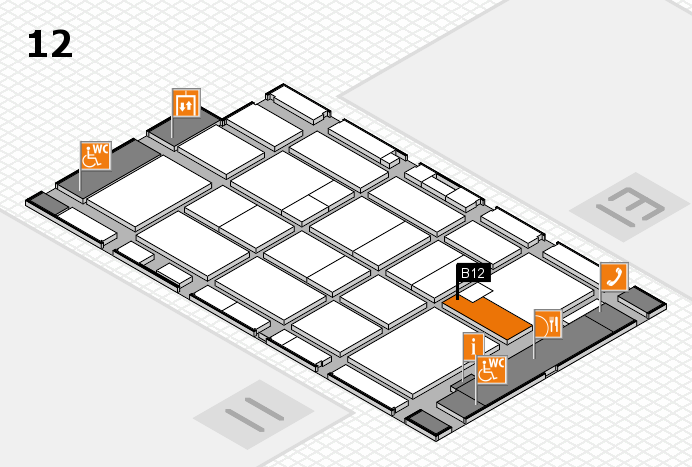 CARAVAN SALON 2016 hall map (Hall 12): stand B12