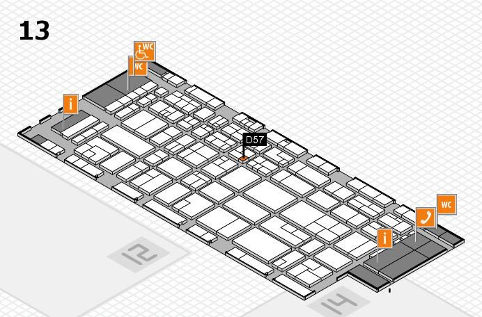 CARAVAN SALON 2016 hall map (Hall 13): stand D57