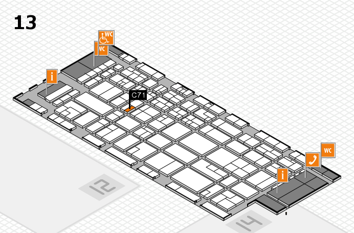 CARAVAN SALON 2016 hall map (Hall 13): stand C71