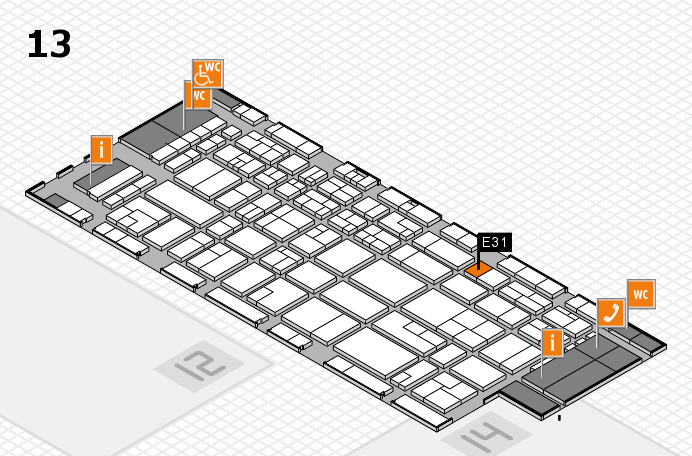 CARAVAN SALON 2016 hall map (Hall 13): stand E31