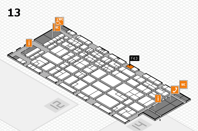 CARAVAN SALON 2016 hall map (Hall 13): stand F43