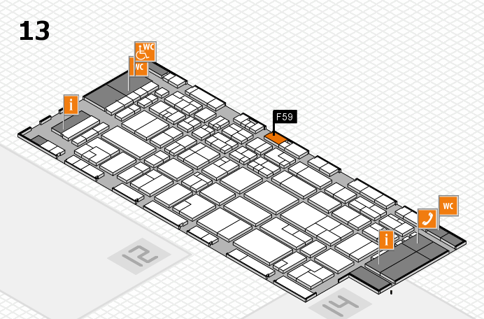 CARAVAN SALON 2016 hall map (Hall 13): stand F59