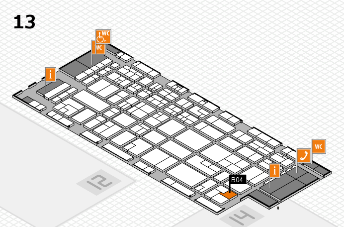CARAVAN SALON 2016 hall map (Hall 13): stand B04