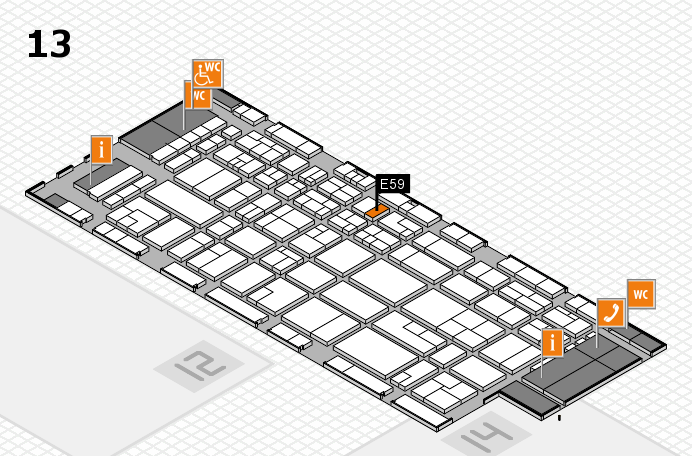 CARAVAN SALON 2016 hall map (Hall 13): stand E59