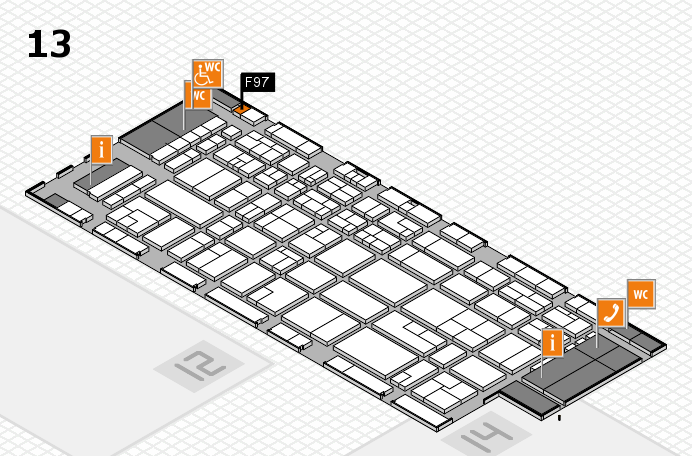 CARAVAN SALON 2016 hall map (Hall 13): stand F97