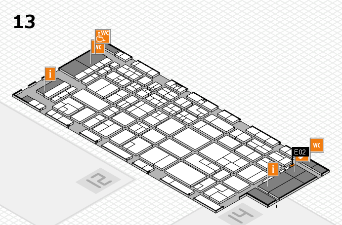 CARAVAN SALON 2016 hall map (Hall 13): stand E02