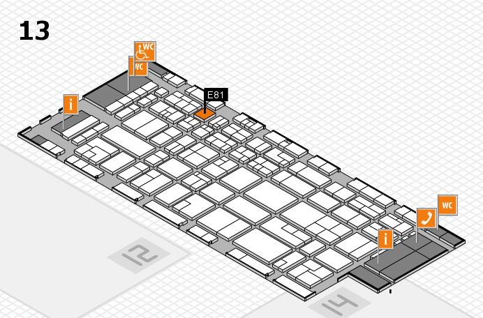 CARAVAN SALON 2016 hall map (Hall 13): stand E81